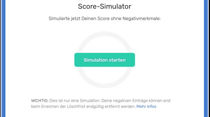 Screenshot bonify Score-Simulator