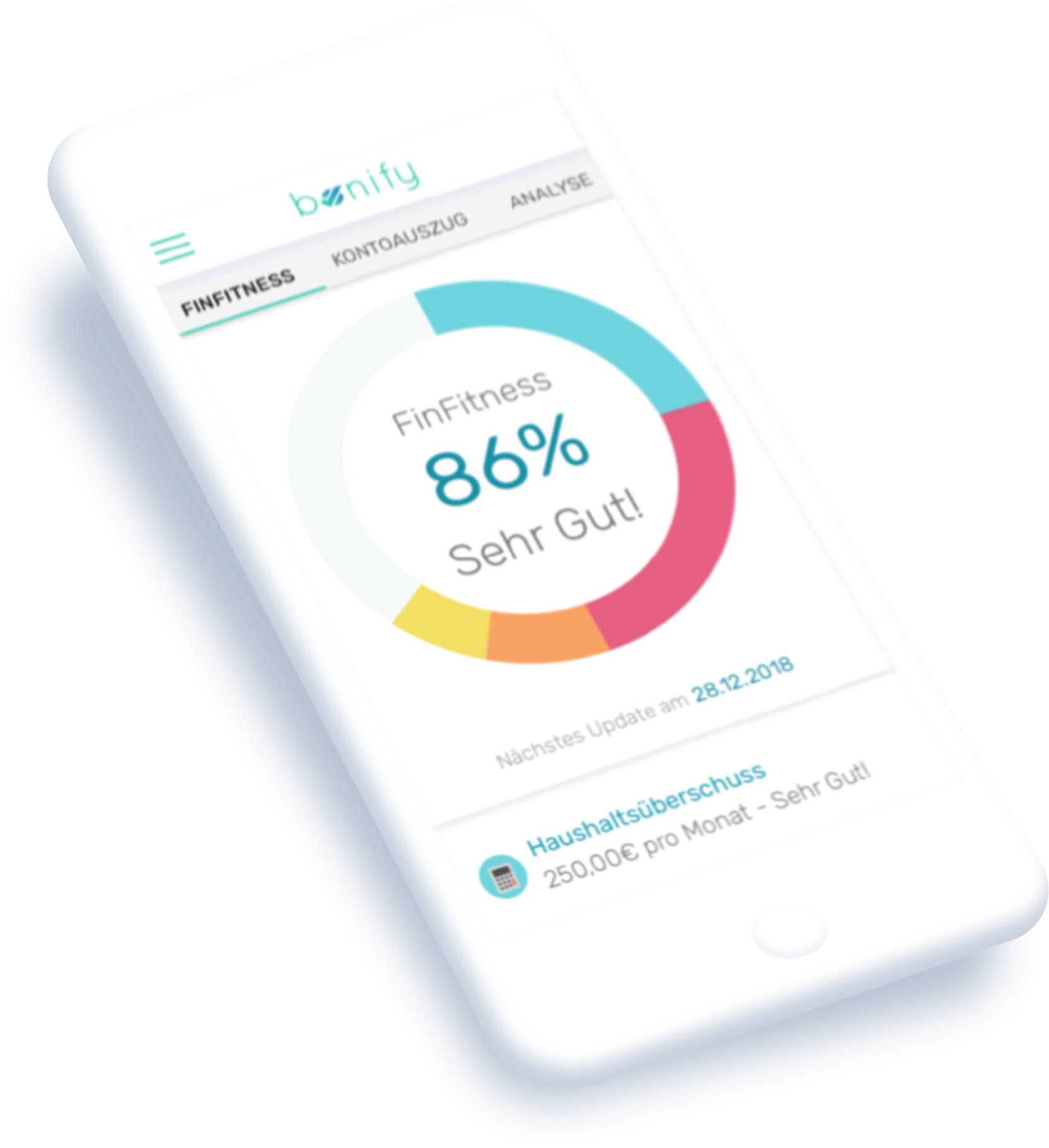 Finfitness Phone Dashboard
