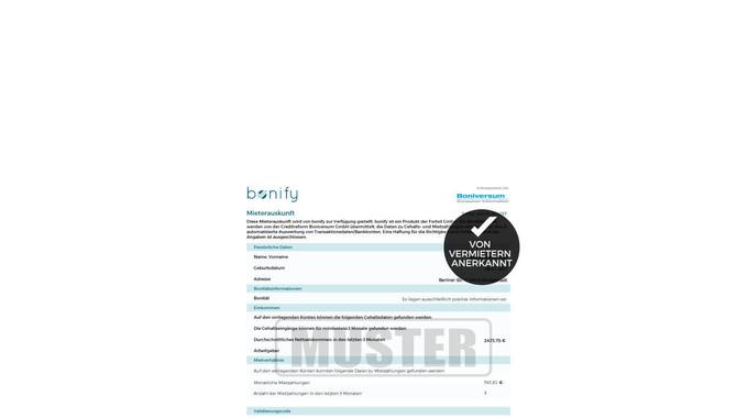 Bonitätsauskunft für Vermieter bonify
